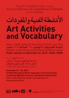 Art Activities and Vocabulary