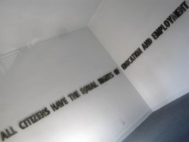 "Mustapha AKRIM, ""Article 13"", 2011, béton armé, dimensions variables. (...)"